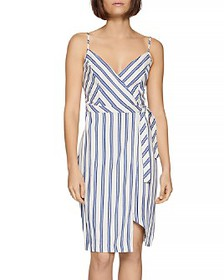 BCBGENERATION - Striped Wrap Dress
