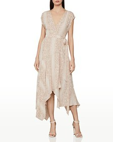 BCBGMAXAZRIA - Python-Print Wrap Dress