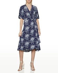 BCBGMAXAZRIA - Floral-Print Wrap Dress