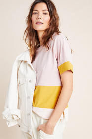 Anthropologie Mallory Colorblocked Top