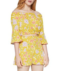 BCBGENERATION - Floral-Print Off-The-Shoulder Top
