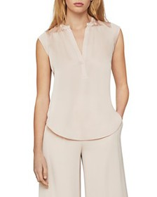 BCBGMAXAZRIA - Pintucked Satin Tunic