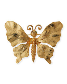 Kenneth Jay Lane Brushed Butterfly Pin