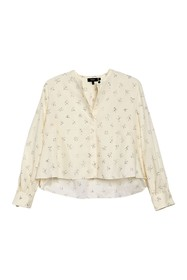 Theory Speckled Cropped East Shirt