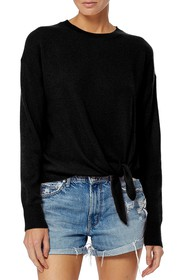 360 Cashmere Johanne Knotted Hem Pullover Sweater