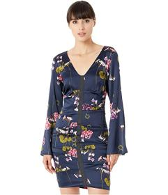 Nicole Miller Lilypad Bell Sleeve Dress