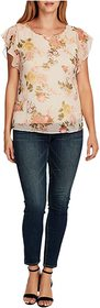 Vince Camuto Flutter Sleeve Beautiful Blooms Yoryu