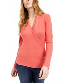 INC Surplice-Front Top, Created for Macy's