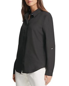DKNY - Concealed Button-Front Top