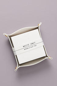 Anthropologie Sophia Valet Tray & Writing Pad Set
