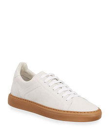 Brunello Cucinelli Low-Top Leather Court Sneakers