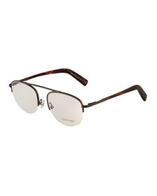 TOM FORD Round Acetate/Metal Optical Glasses