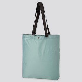 Lightweight Pocketable Tote Bag, Green, Medium