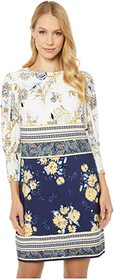 Vince Camuto Printed Jersey T Body with Novelty Sl