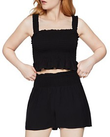 BCBGENERATION - Smocked Sleeveless Crop Top