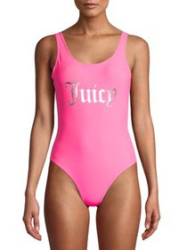 Juicy Couture Womens One-Piece Swimsuit With Foil