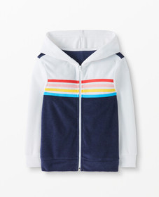Hanna Andersson Sunsoft Terry Full Zip Hoodie Cove