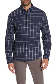 Michael Kors Windowpane Print Slim Fit Shirt