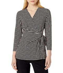 Anne Klein Pearly Wrap Top