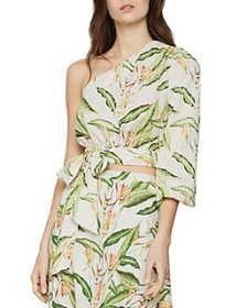BCBGMAXAZRIA - One-Shoulder Cropped Blouse