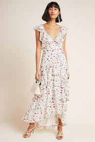 Anthropologie Sau Lee Jasmine Sequined Maxi Dress