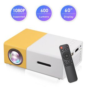 Mini Projector, Portable Movie Theater LED Full HD