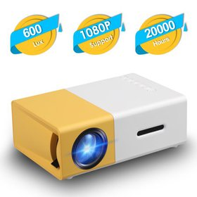 TSV Mini Portable Projector - 1080P HD LED Micro P