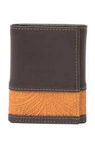 Tallia Trifold Leather Wallet with Embossed Insert