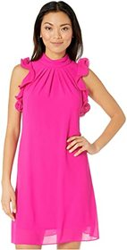 Vince Camuto Souffle Chiffon High Neck Float with