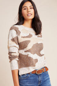 Anthropologie Marjorie Camo Sweater