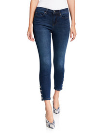 Nicole Miller Soho High Rise Ankle Skinny Snap But