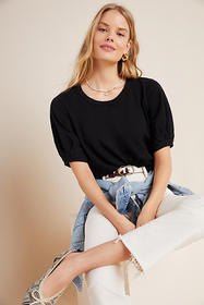 Anthropologie Anabelle Puff-Sleeved Tee