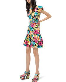 Michael Kors Collection Ruffled Modern Floral Sate