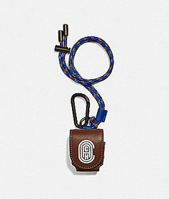 Coach wireless earbud case with reflective coach p