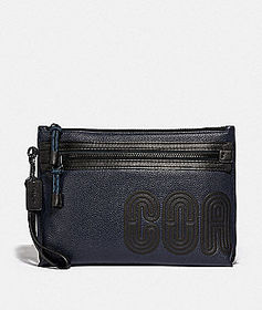 Coach academy pouch with coach print