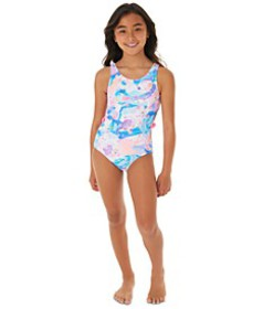 Big Girls 1-Pc. Printed Cut Out Swim Suit