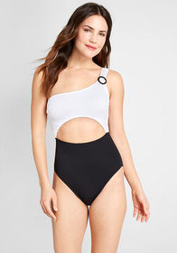 ModCloth The Sierra One-Piece Swimsuit Black/White