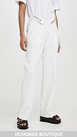 Alexander Wang Mens Trousers with Flipped Waistban