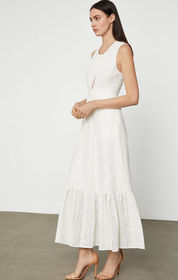 BCBG Cotton Eyelet Maxi Dress