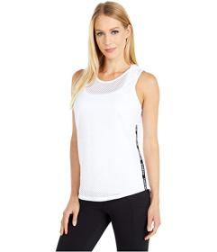 Bebe Sport Mesh Tank with Contrast Trim