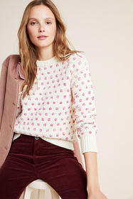 Anthropologie Meghan Textured Polka Dot Sweater