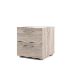 2 Drawer Nightstand in White - Tvilum