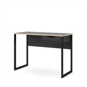 One Drawer Desk in Black - Tvilum
