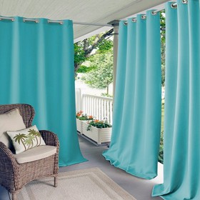 Connor Solid Indoor/Outdoor Window Curtain for Pat