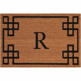"Nourison Elegant Entry ""R"" Natural Doormat EECMR 2"