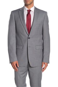Calvin Klein Solid Medium Grey Suit Suit Separates