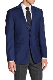 Calvin Klein Solid Blue Wool Suit Suit Separates J