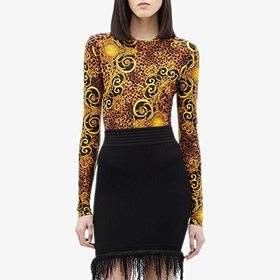 Versace Jeans Couture Long Sleeve Leo Baroque Prin