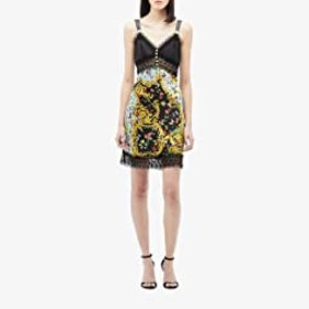 Versace Jeans Couture Lady Bug Print Slip Dress wi