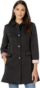 Kate Spade New York Chevron Quilted Piping Coat